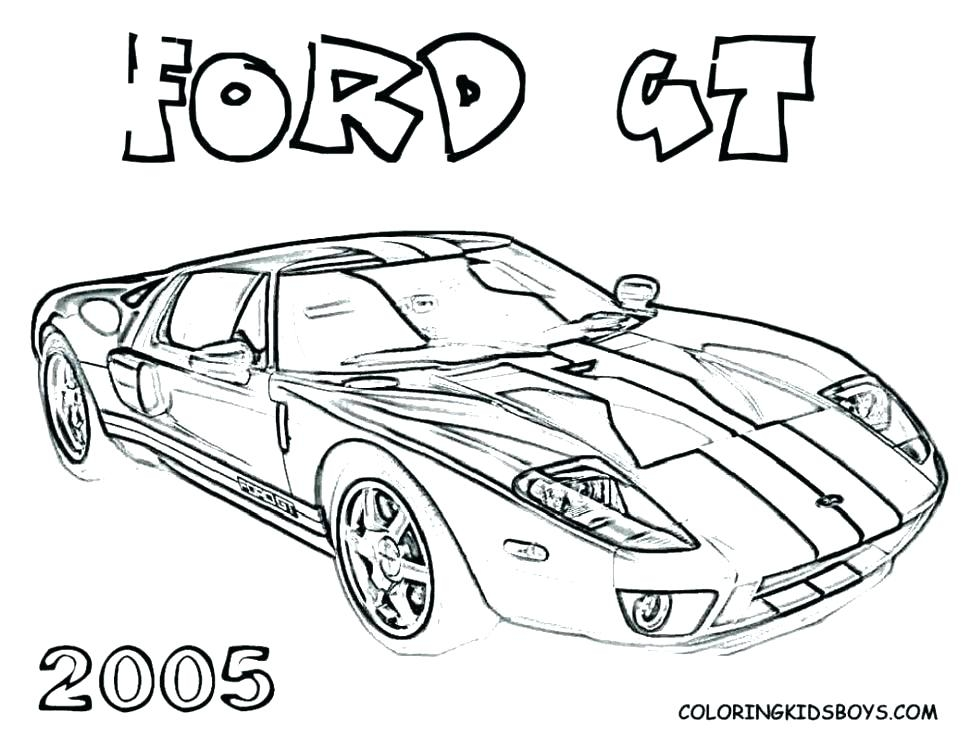 970x750 Ford Gt Coloring Pages Printable Coloring Page