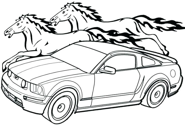 736x500 Ford Mustang Coloring Pages Mustang Coloring Pages Mustang