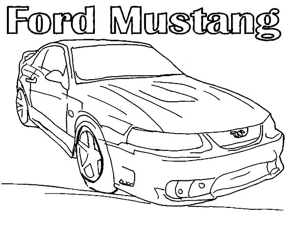 600x464 Mustang Coloring Pages Ford Mustang Coloring Pages Printable