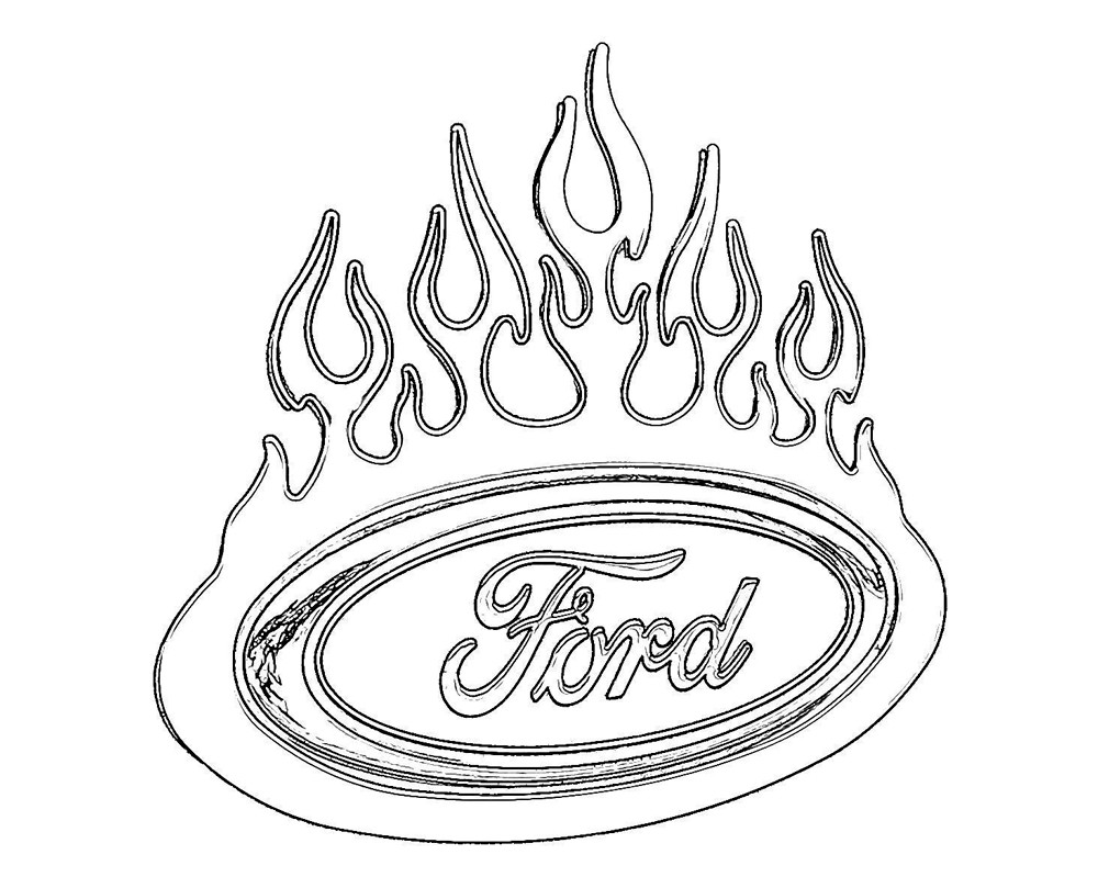 1000x799 Ford Coloring Pages Free Throughout