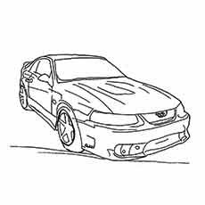 Ford Mustang Coloring Pages At Getdrawings Com Free For Personal