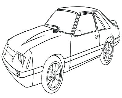 400x322 Mustang Car Coloring Pages Mustang Coloring Pages Awesome Ford