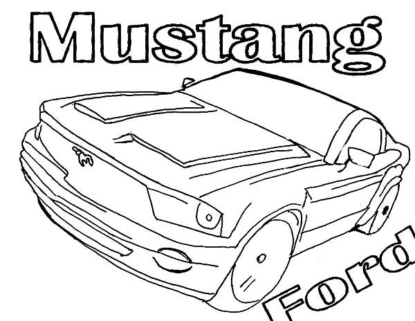 600x464 Mustang Ford Car Coloring Pages Best Place To Color