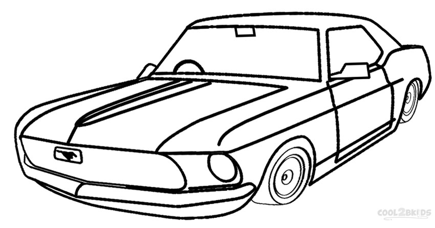 850x447 Printable Mustang Coloring Pages For Kids