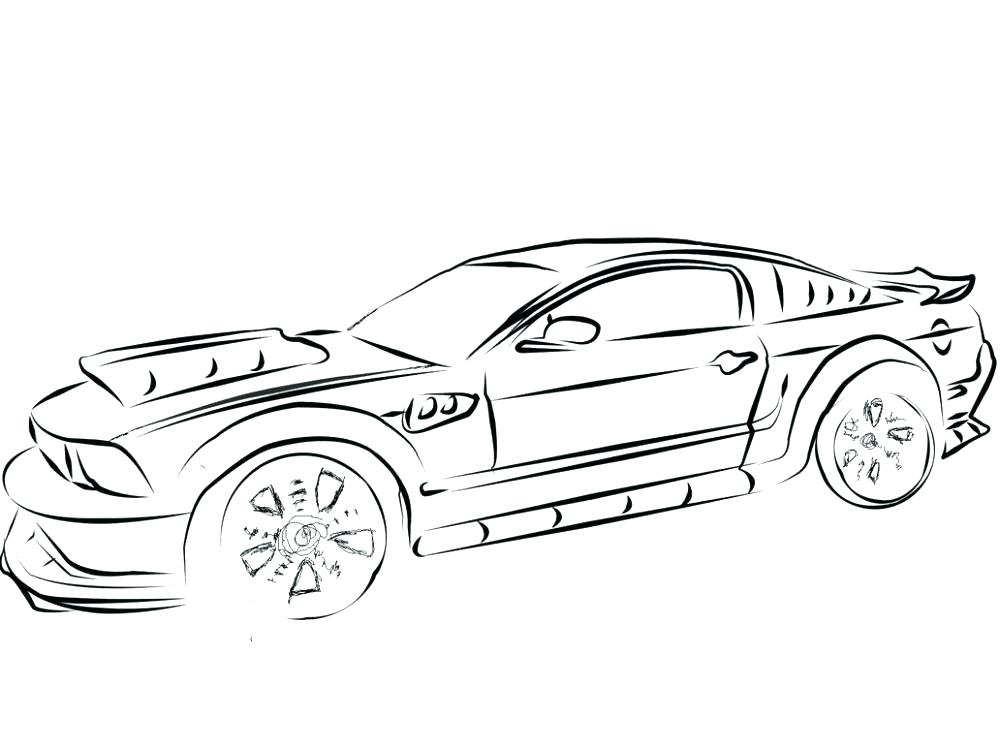 1000x750 Mustang Coloring Pictures