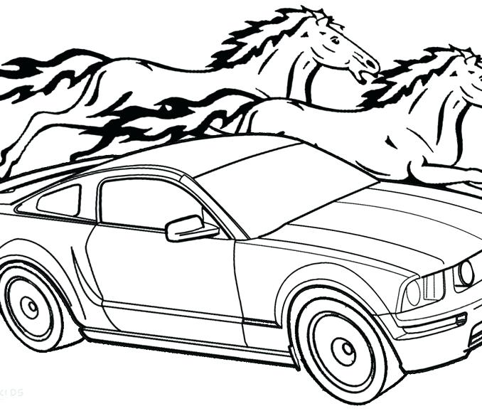 678x578 Ford Coloring Pages Ford Mustang Coloring Pages Ford Mustang