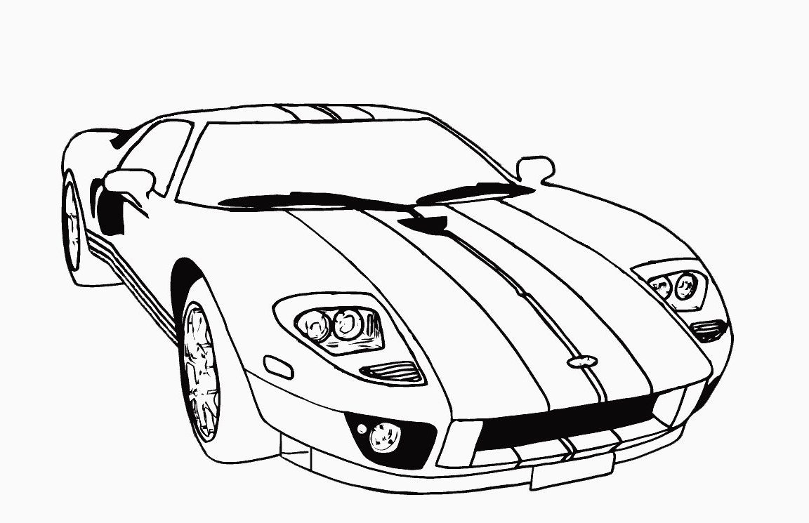 1152x745 Preschoolers Cars Car Coloring Ford Pages Printable General Free