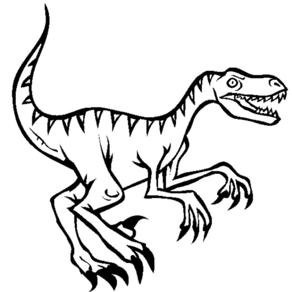 1024x1024 Raptor Coloring Page Mosm