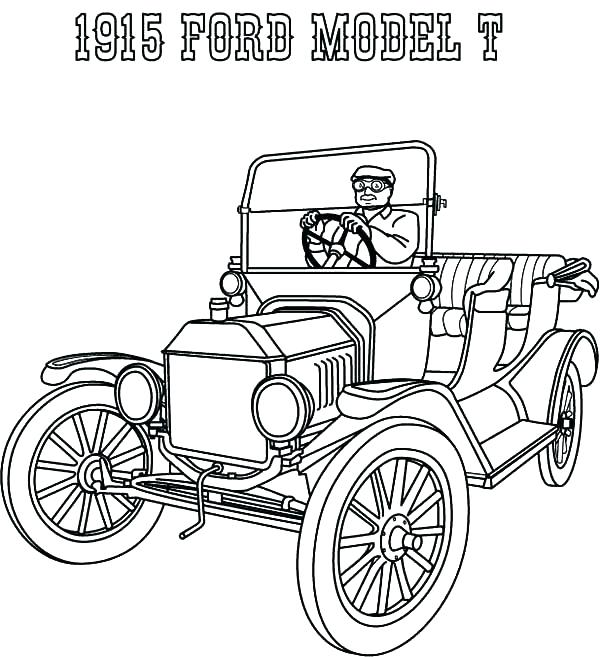 600x657 Ford Coloring Pages Ford Coloring Pages Ford Model T Car Coloring