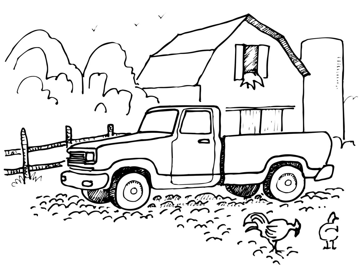 1152x864 Police Truck Coloring Pages Colors For Kids With Vehicles Pick Up