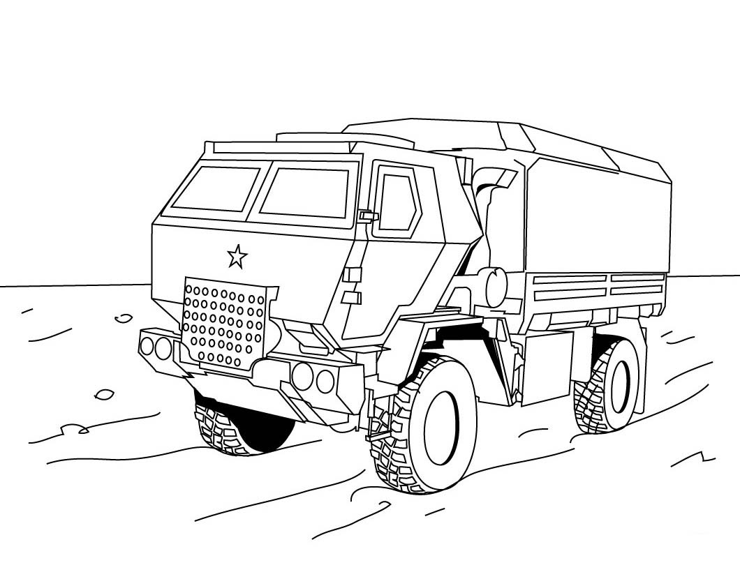 1060x820 Semi Truck Coloring Pages