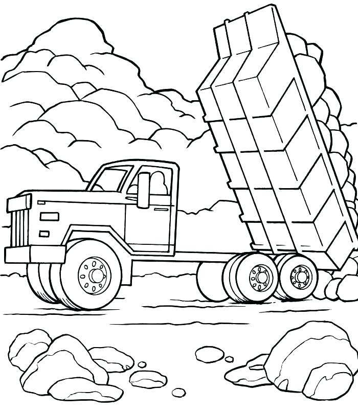 700x806 Top Truck Coloring Pages Free Coloring Page Truck Coloring Pages