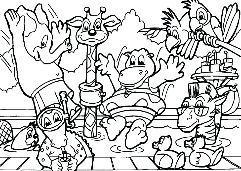 970x690 Forest Animal Coloring Pages Forest Animals Coloring Pages Forest