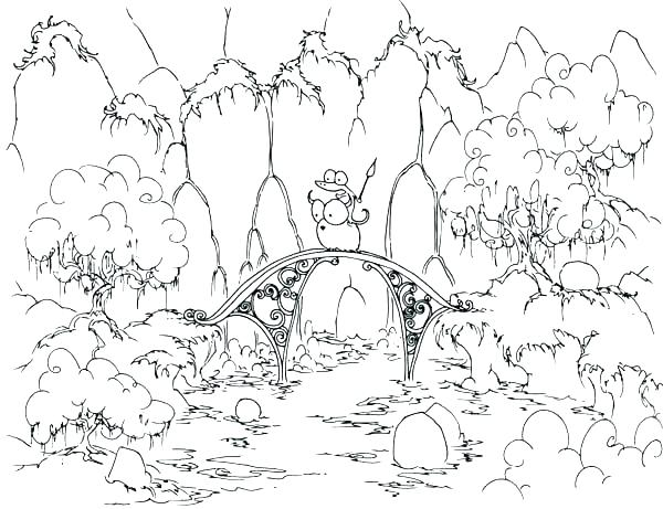 600x461 Forest Coloring Forest Coloring Sheets Forest Coloring Pages