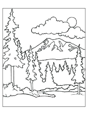 370x480 Forest Coloring Pages Forest Coloring Page Perfect Forest Coloring