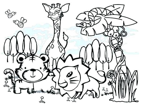 600x452 Coloring Pages Printable Animals Forest Animals Coloring Pages