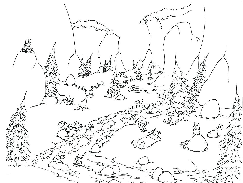1000x753 Forest Coloring Grown For Free Forest Coloring Pages For Your Kids