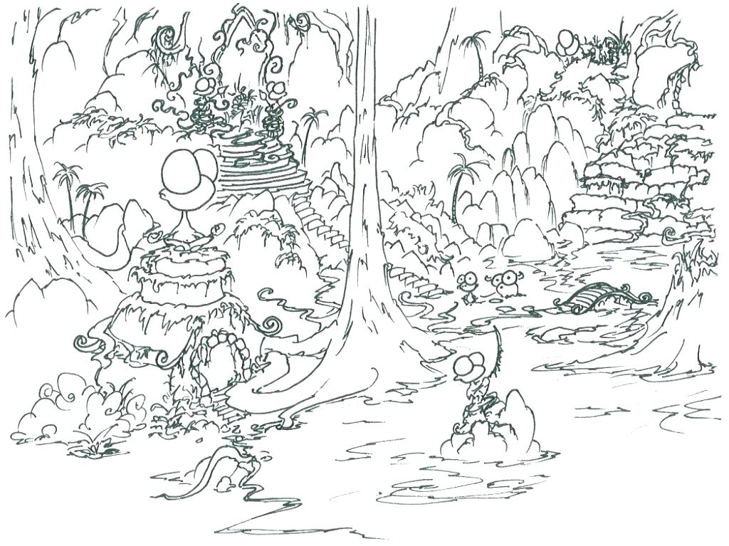 1024x767 Forest Coloring Pages Coloring Forest Coloring Page Coloring