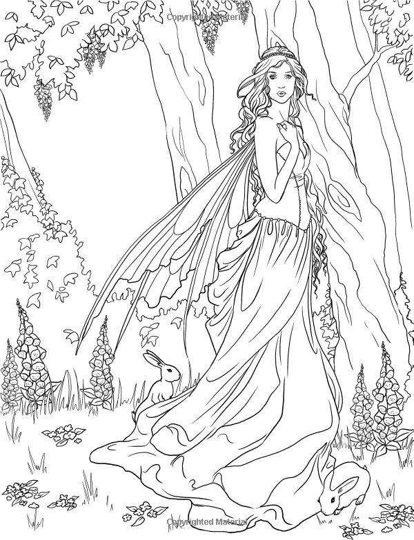 Forest Fairy Coloring Pages at GetDrawings.com | Free for ...