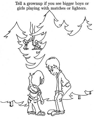 Forest Fire Coloring Pages