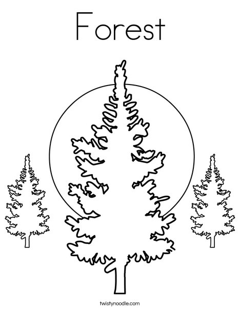 468x605 Forest Coloring Page