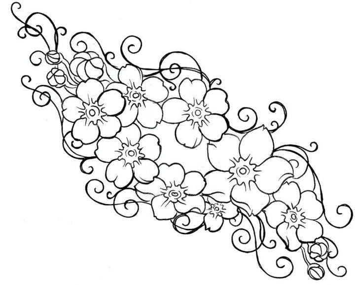 728x578 Free Flower Coloring Pages For Preschoolers Charming Beautiful