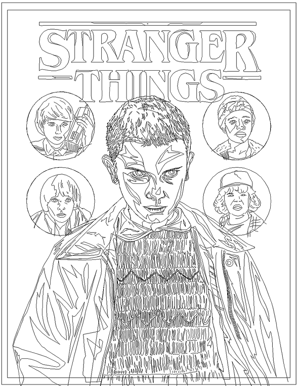 587x764 Free Printable Stranger Things Coloring Pages