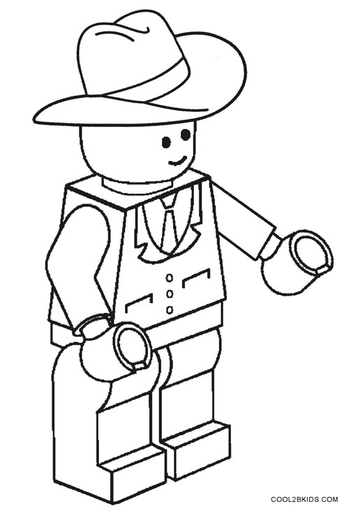 500x733 Printable Cowboy Coloring Pages For Kids
