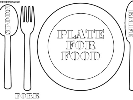 440x330 Empty Plate Coloring Page, Best Photos Of Dinner Plate Coloring