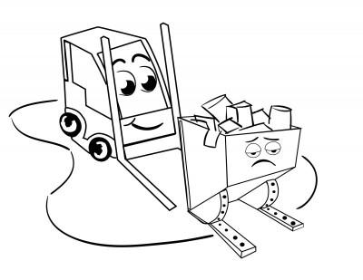 400x309 Official Frankie Forklift Coloring Book