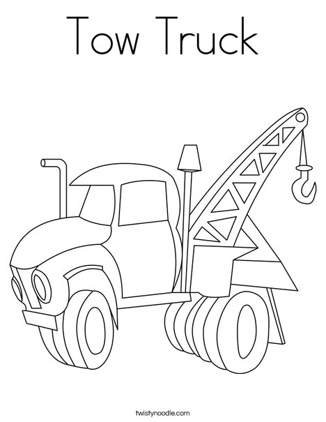 468x605 Tow Truck Coloring Page