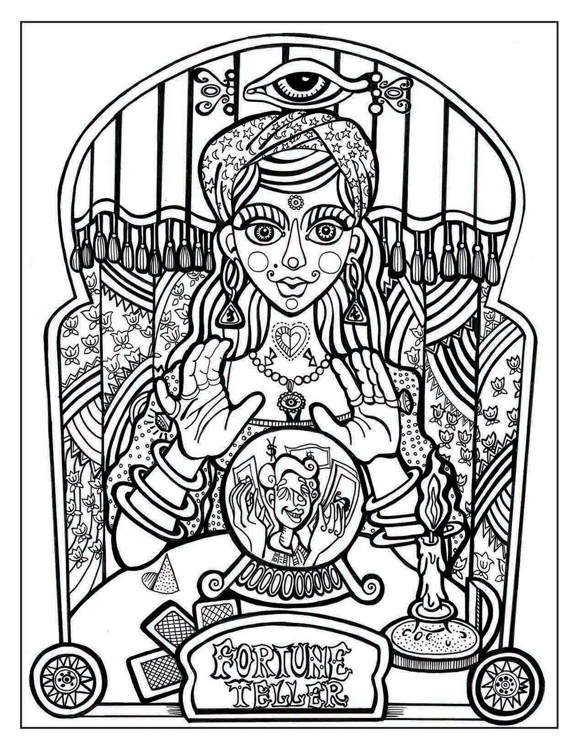 Fortune Teller Coloring Pages