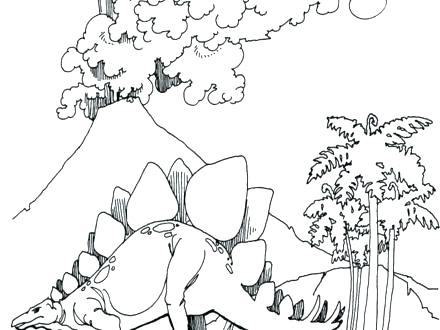 440x330 Baby Stegosaurus Coloring Page Kids Coloring Fossil Coloring Pages