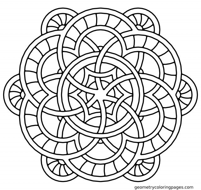 640x605 Fountain Mandala Coloring Pages Geometry Coloring Pages