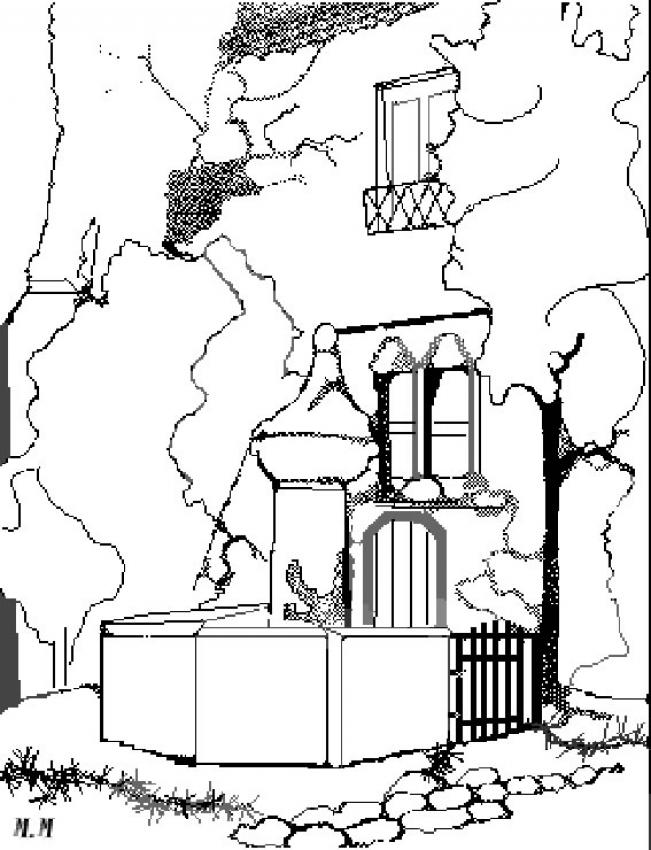651x850 Fountain Coloring Pages