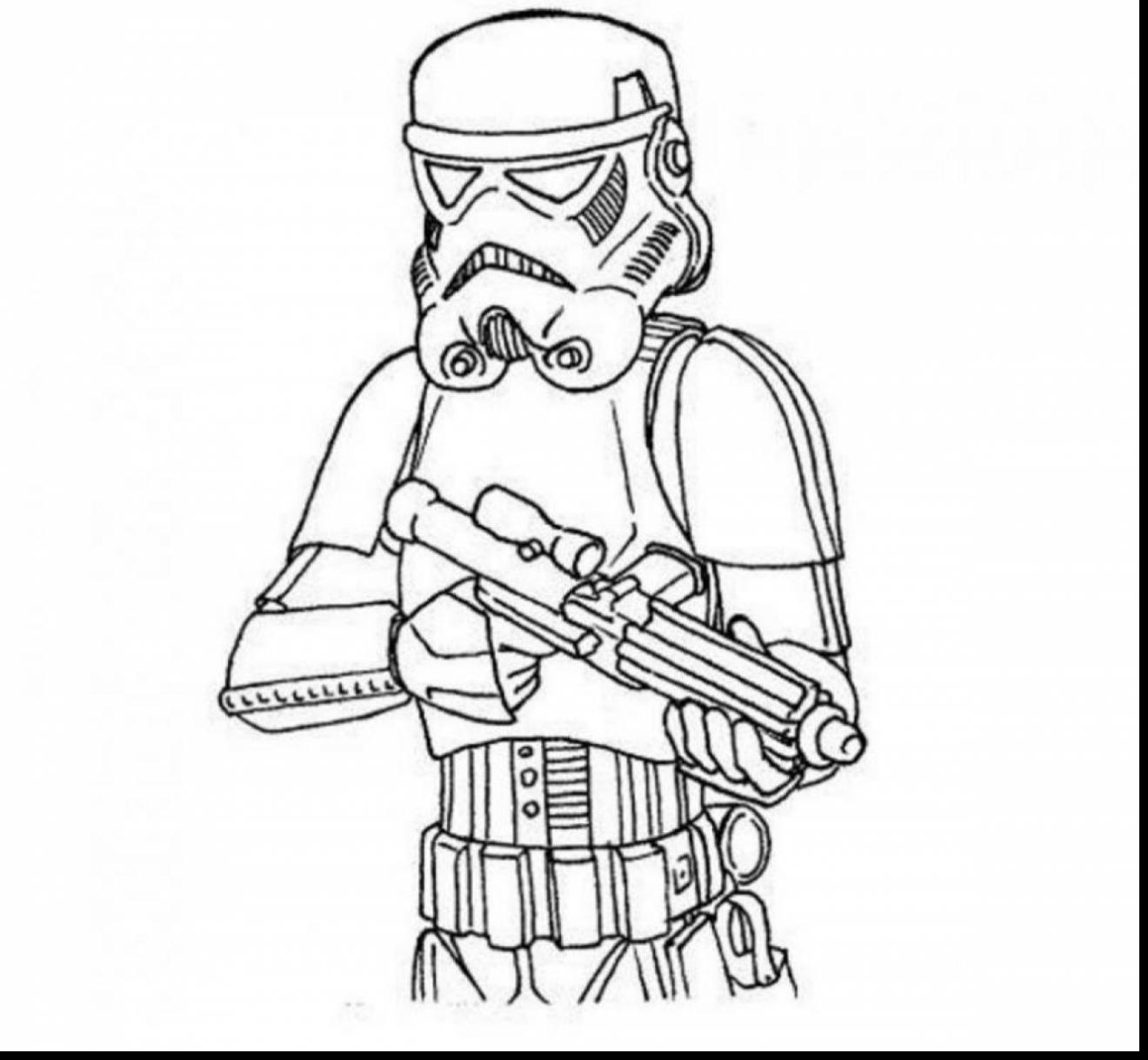 1320x1218 Storm Trooper Coloring Page