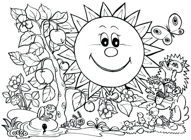 618x454 Seasons Coloring Pages Seasons Coloring Pages Spring Color Pages