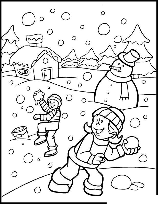 618x798 Winter Color Sheet Preschool Seasons Color