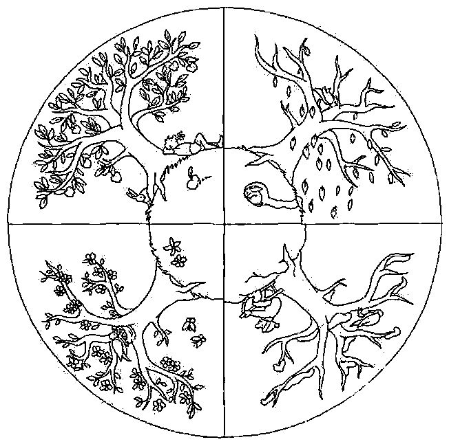 652x646 Four Seasons Pictures To Colour Coloring Page