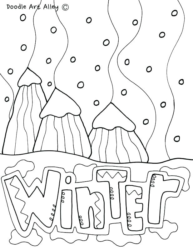 Four Seasons Coloring Pages For Kindergarten