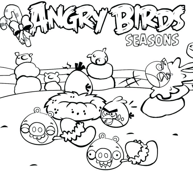 678x600 Seasons Coloring Pages Angry Birds Seasons Coloring Pages Angry
