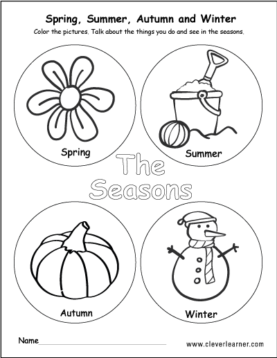 400x518 The Four Seasons Of The Year Worksheets For Preschools