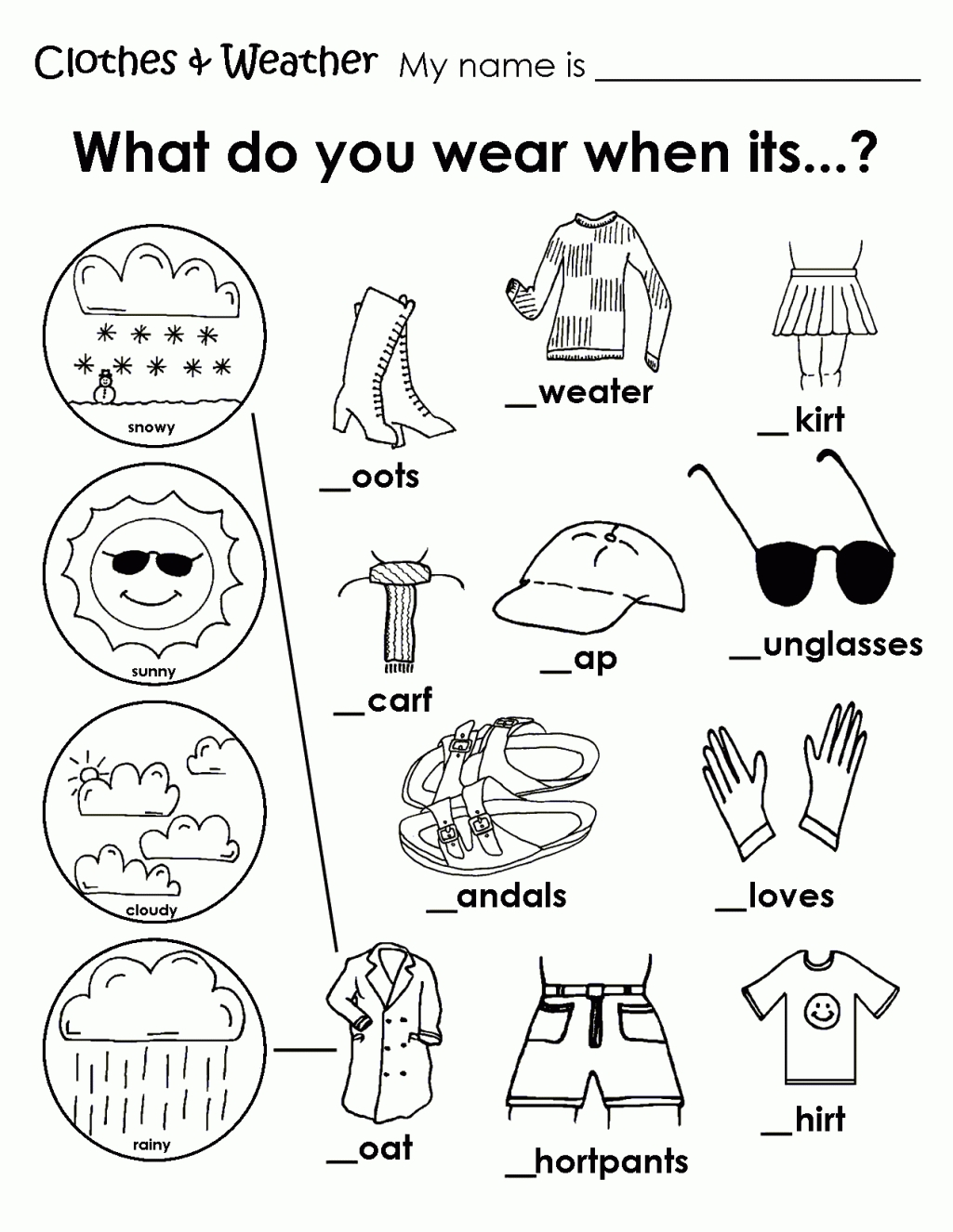 1025x1326 Kindergarten Free Coloring Pages Of Clothing Worksheet Weather