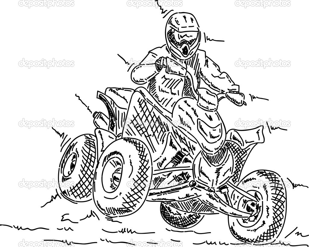 1024x818 Four Wheeler Coloring Pages