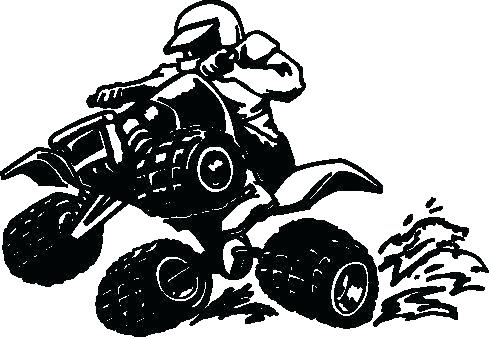 489x337 Four Wheeler Coloring Pages Free Clip Wheele