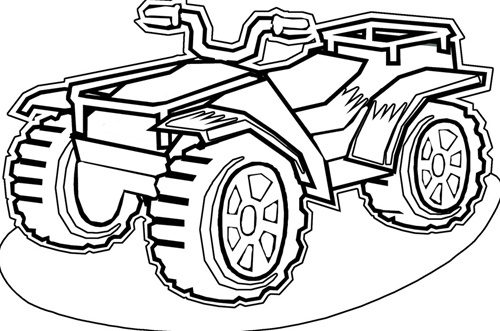 500x331 Four Wheeler Coloring Pages Quad Atv Transportation Printable