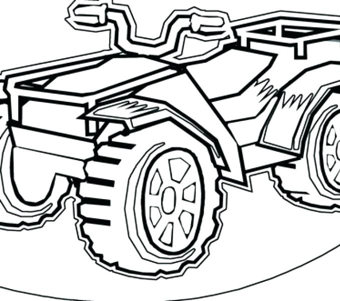 678x600 Four Wheeler Coloring Pages Racing The Awesome Intended