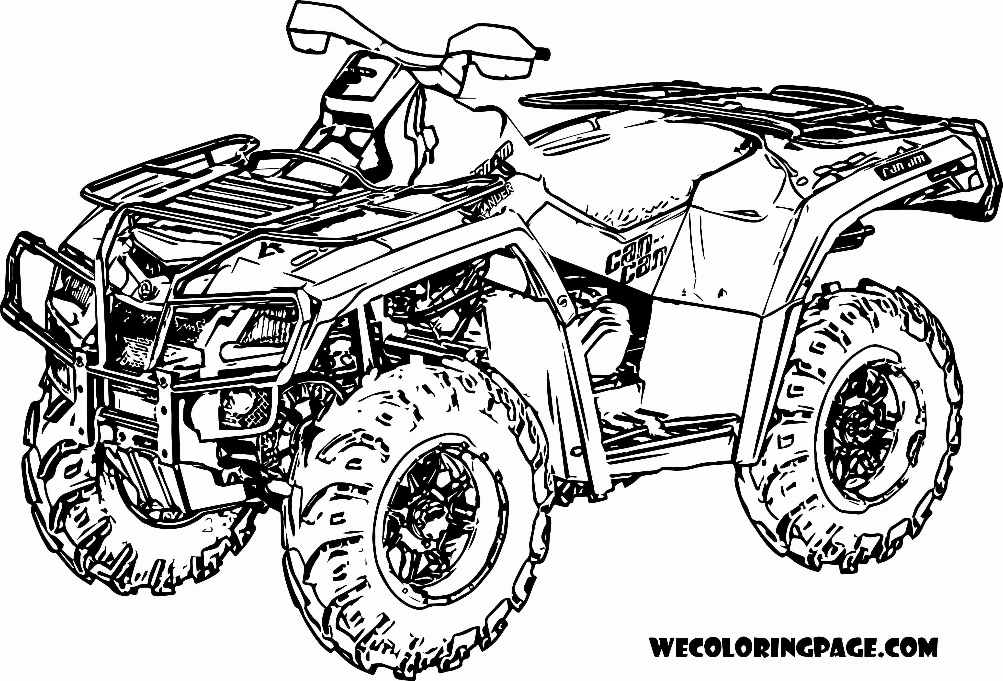 4101x2785 Fourwheeler Coloring Pages Olegratiy
