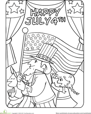 301x376 Fourth Of July Parade Worksheet