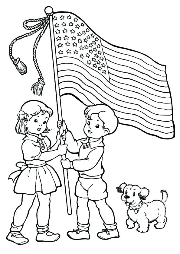 595x842 Of July Coloring Sheets Of Coloring Pages With Eagle And Flag